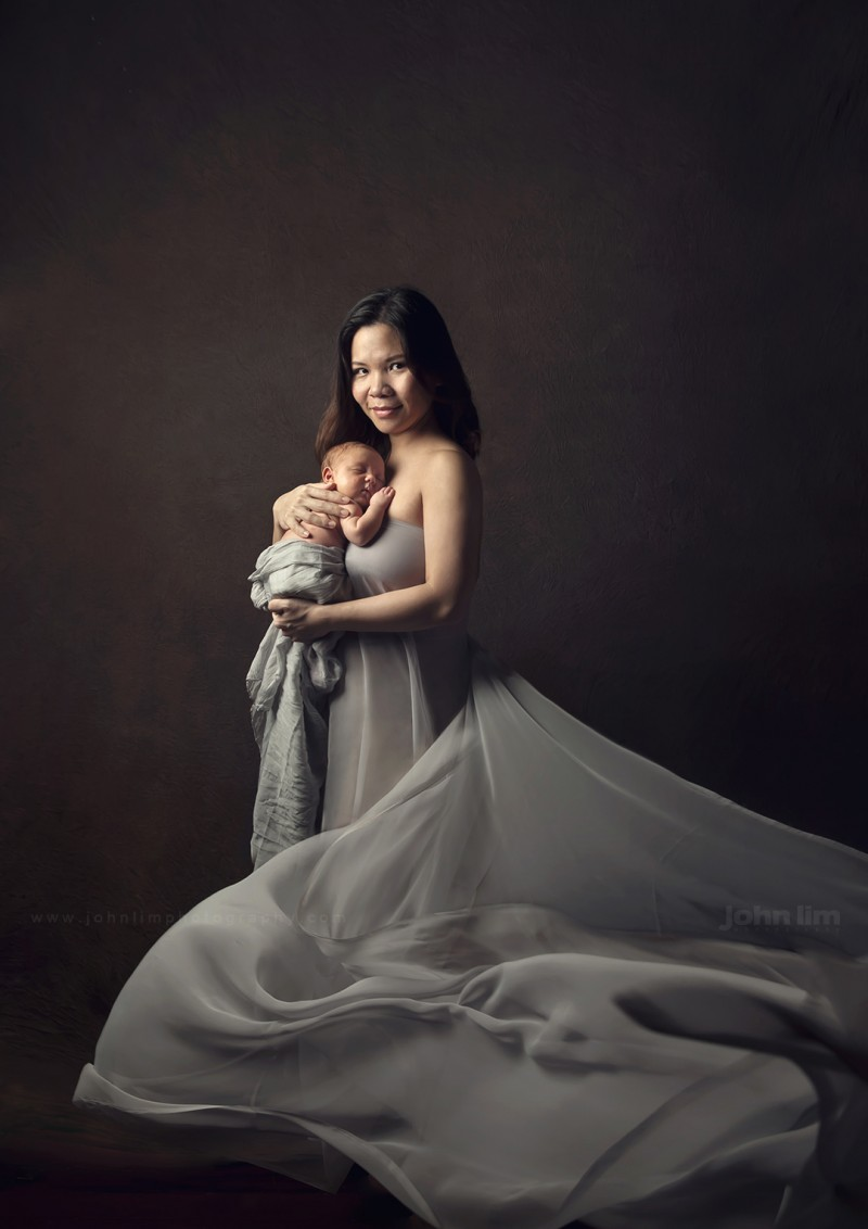 Top 10 Portrait Photographers in Singapore, fine-art newborn photography