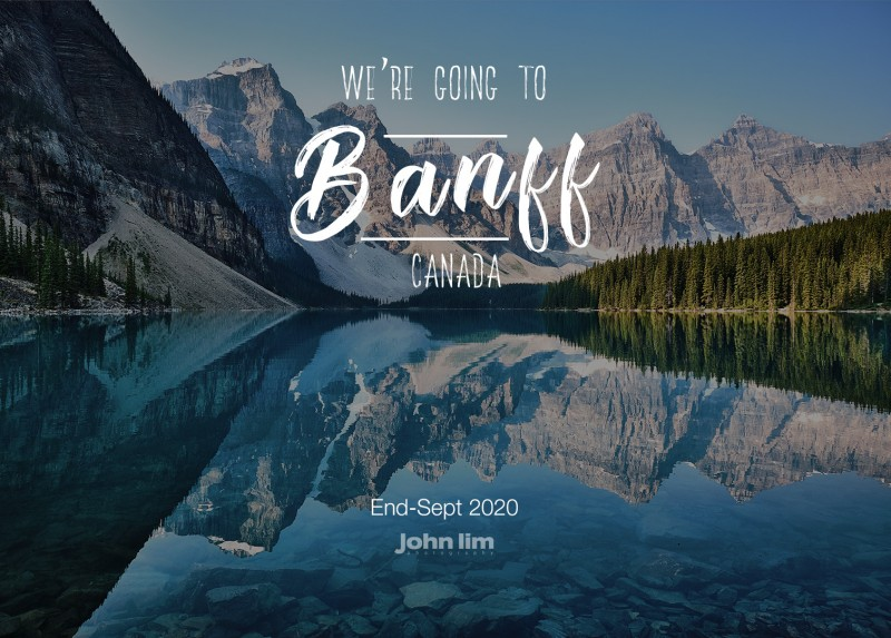 Banff, Canada Destination Pre-Wedding Shoot of a lifetime